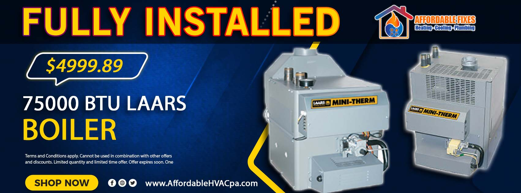 Boiler Installation Service Promotion in Philadelphia PA and Bucks County PA